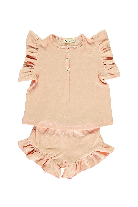 pyjama fille nuvola coton bio seashell