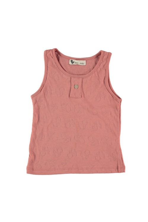 tank top catcheur cotton organic red