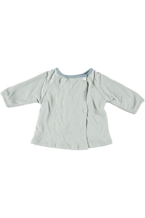 t shirt bébé bleu ciel coton bio