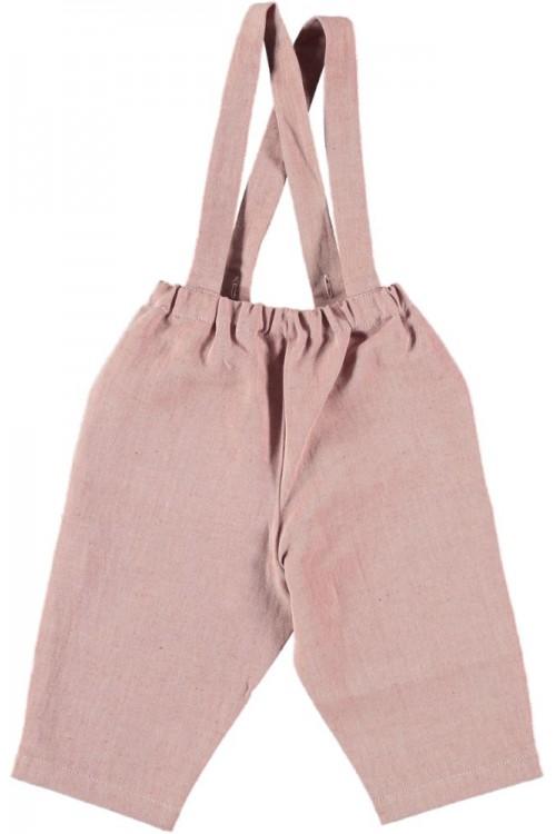 pantalon bébé coton toile de coton bio rouge