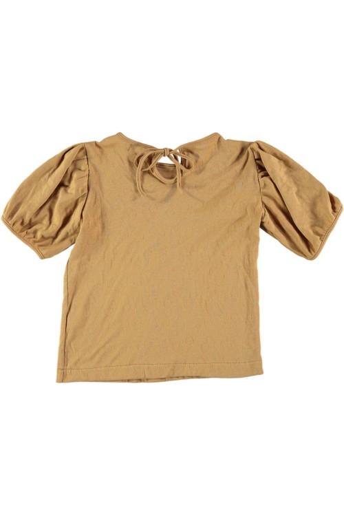 top costa en coton bio camel