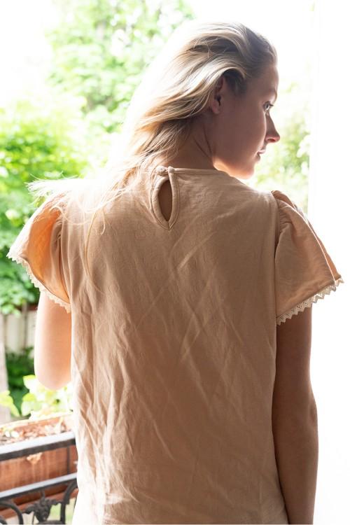 pyjama femme coton bio rose été