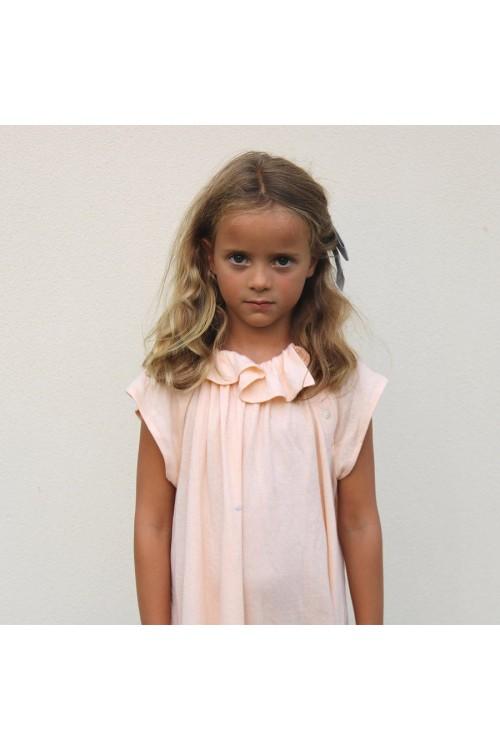 Chemise de nuit fille Polie jersey de coton bio