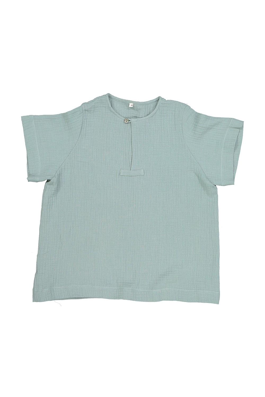 George boy's shirt organic cotton green gauze