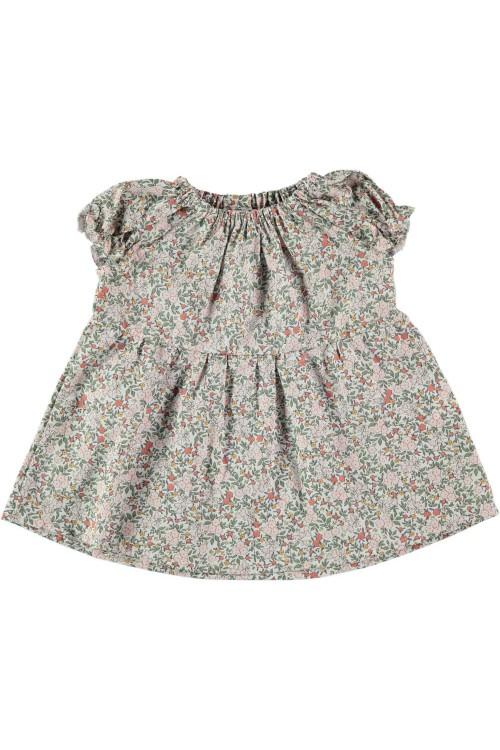 blouse bebe Mia fleurs artemisia coton bio