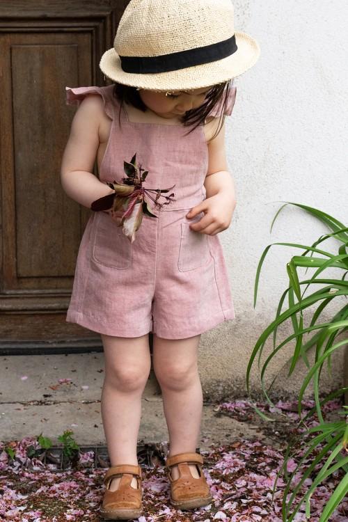 salopette floria coton bio rouge tomette