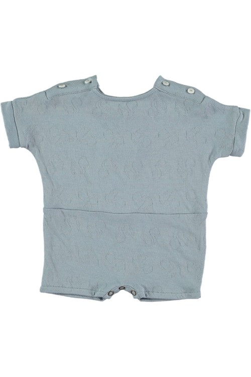 pyjama court bébé club bleu sea coton bio