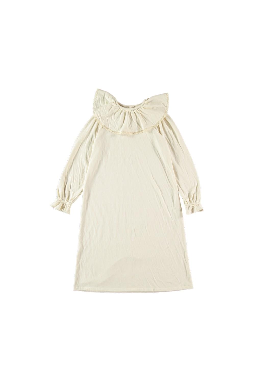 chemise de nuit fille en coton bio écrue papyrus