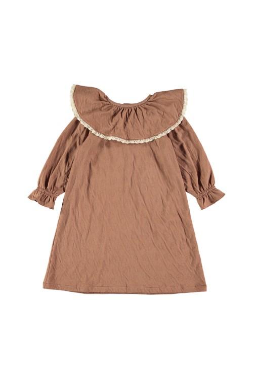 chemise de nuit fille mona coton bio marron chestnut
