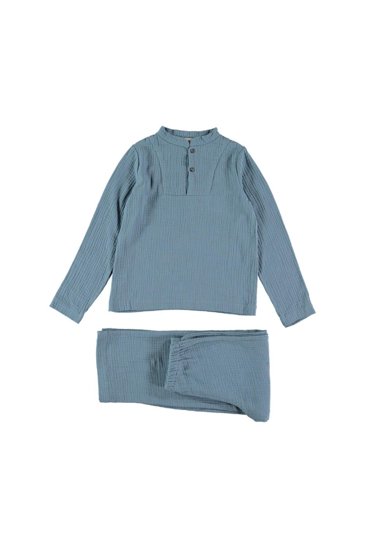 pyjama enfant gaze bio blue blue bleu