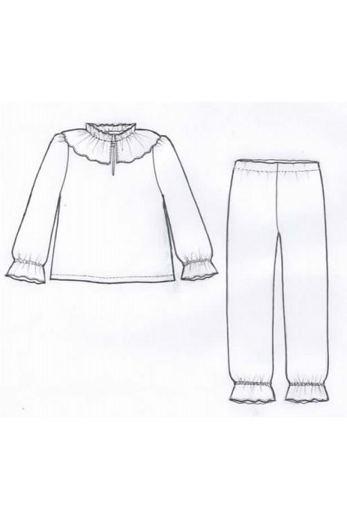 Pyjama fille en coton bio