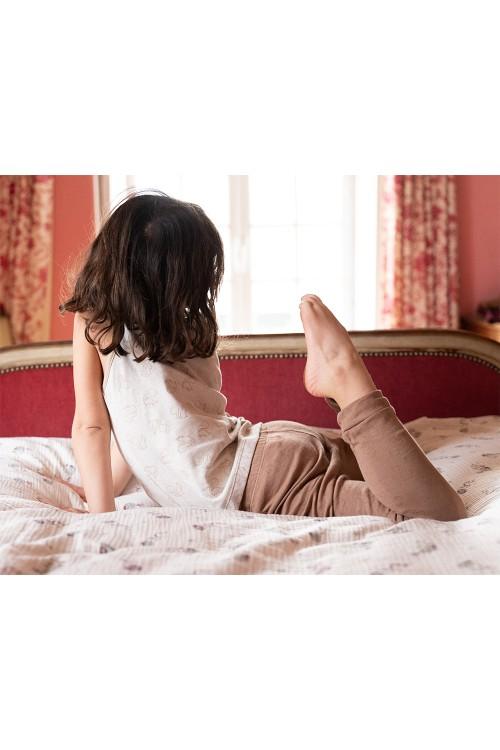 leggings enfant coton bio chestnut risu risu