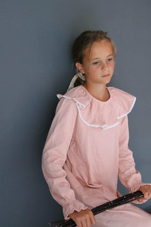 chemises de nuit fille coton bio jersey