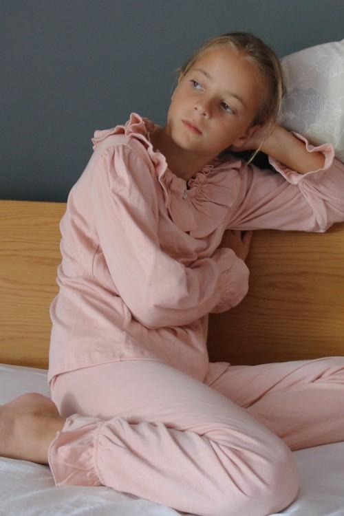 pyjama colombine risu risu rose fané