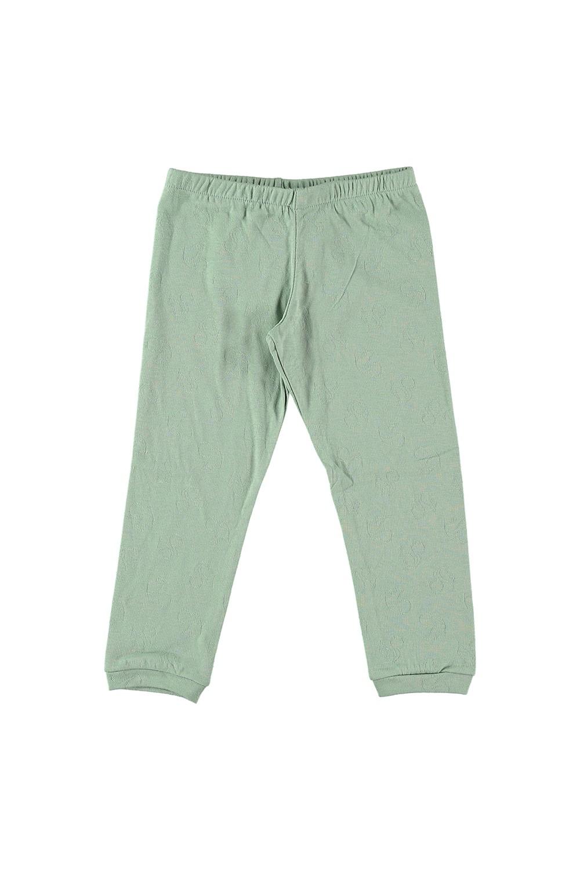 Leggings enfant Malo vert amande cotton bio