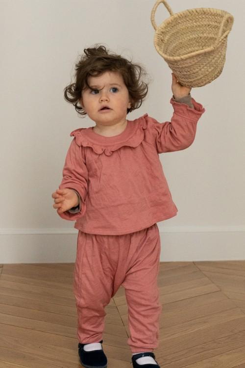 pyjama 2 pièces fille bébé coton brio rouge