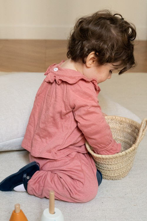 pyjama fille coton bio corolle rouge