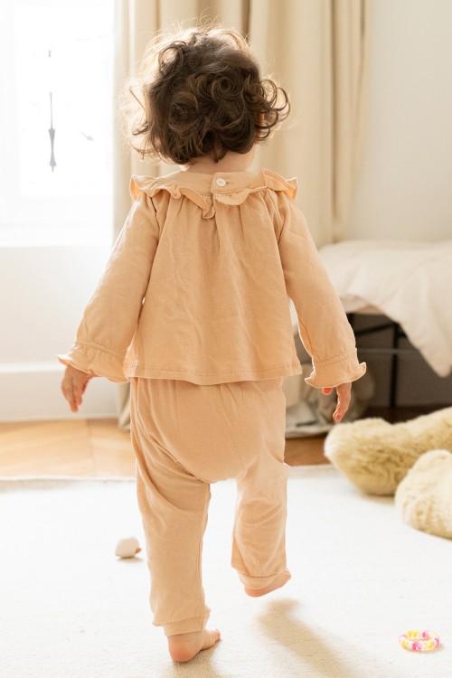 ensemble de pyjama bébé coton bio certifié gots