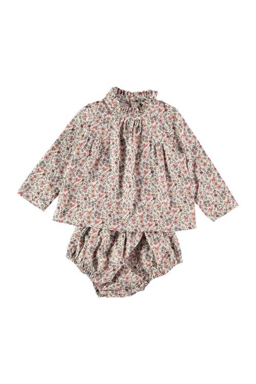 robe bébé sérénade jardin secret coton bio