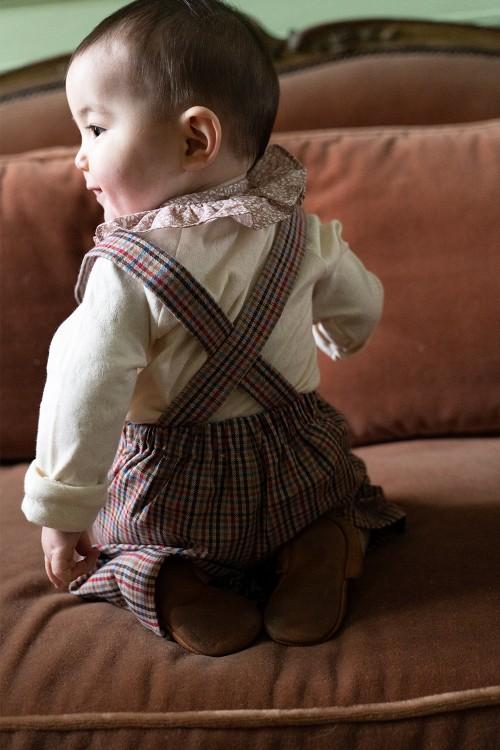 salopette bébé mixte hiver coton doux bio