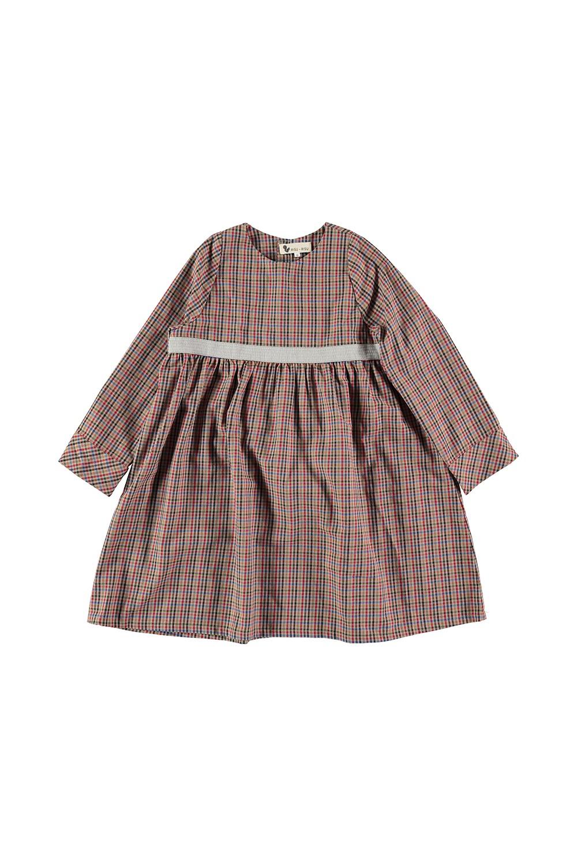 robe bébé ribambelle hiver coton bio carreaux écossais