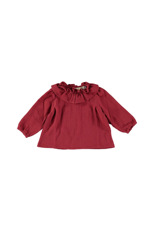 Blouse bébé Pirouette deep red 100% coton bio
