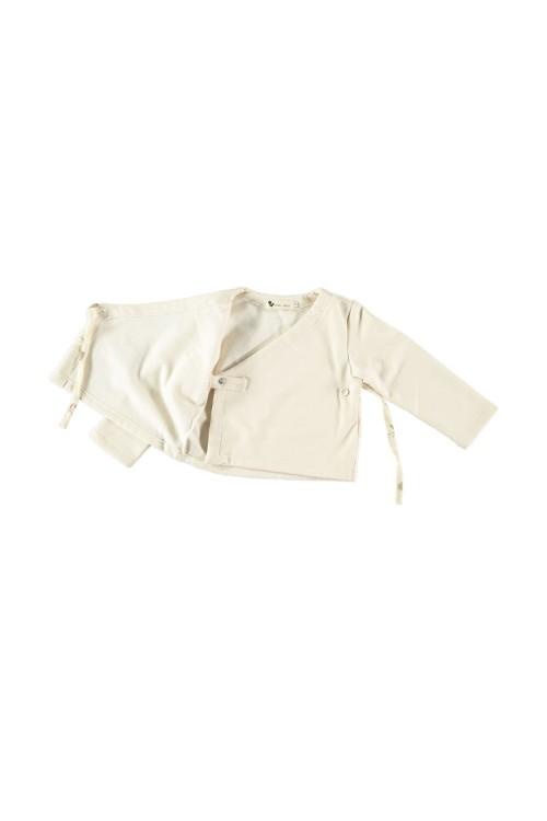 cardigan cache coeur bébé coton bio crème