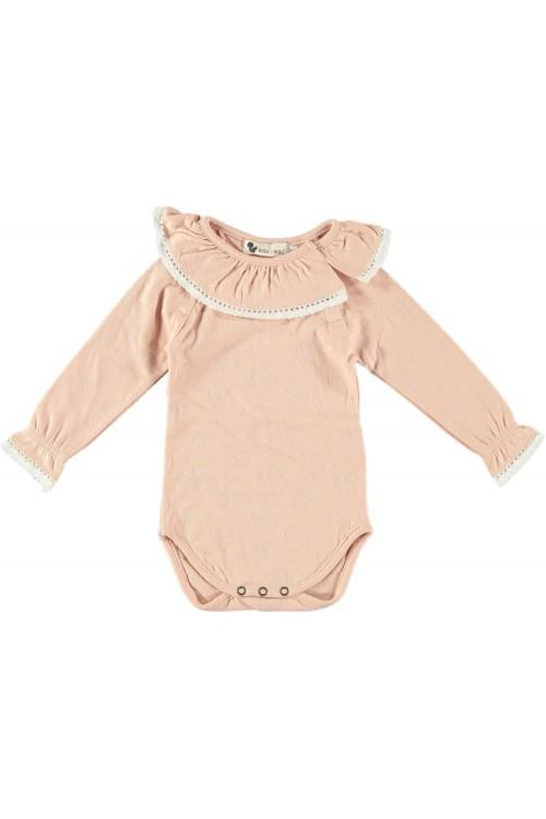 baby bodysuit coton bio maia praline risu risu