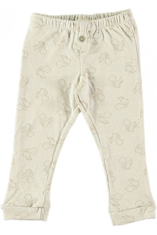 baby leggings in organic cotton jersey allover