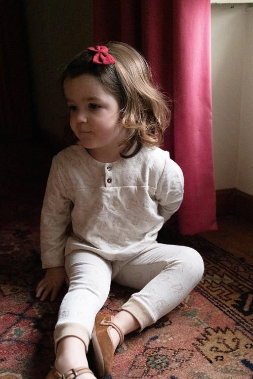 chemise bébé peintre coton bio