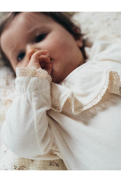 pyjama ecru risu risu ballerine dentelles