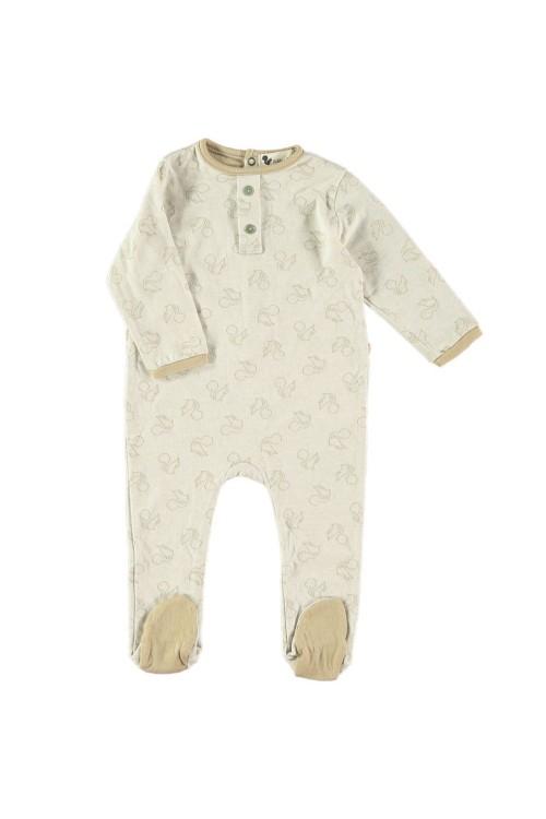 Baby pyjamas in exclusive risu risu organic jersey