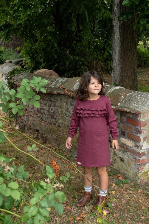 ondine girl anemone dress organic cotton