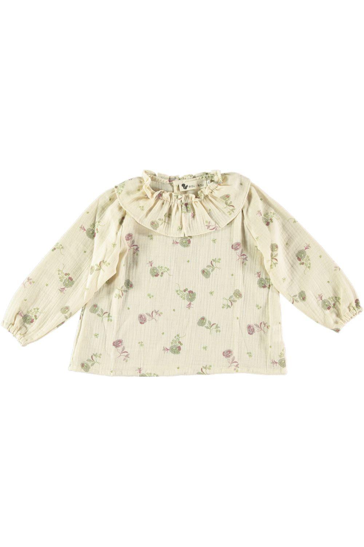 blouse bébé pirouette double gaze de coton bio blossom