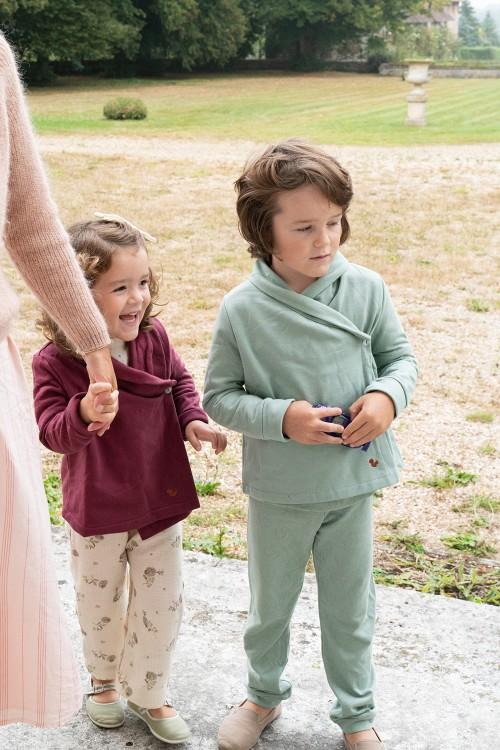 robes de chambre hiver enfant en molleton bio risu risu