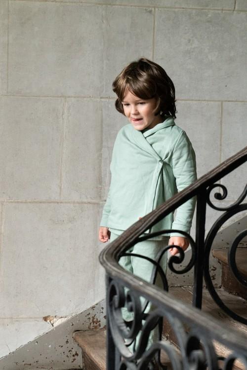 organic cotton children almond cocoon jacket