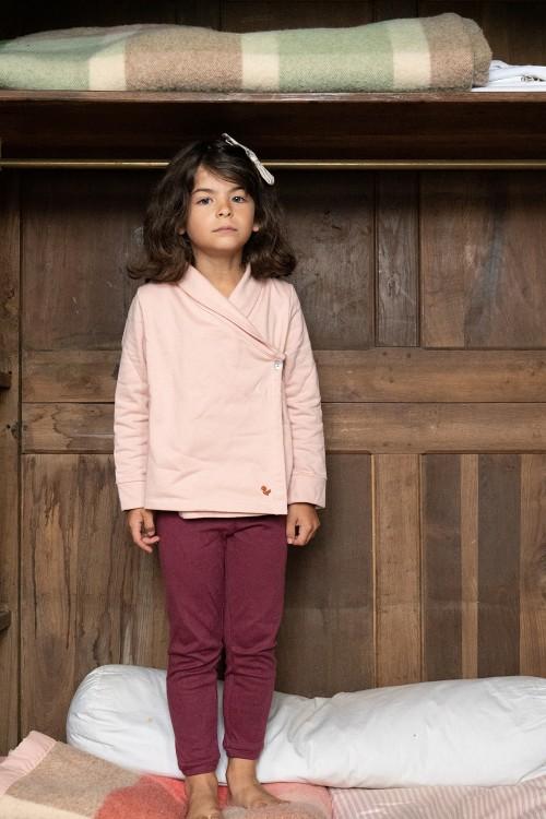 veste cocoon rose praline coton bio