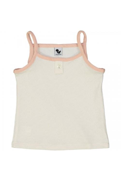 Organic cotton strap vest