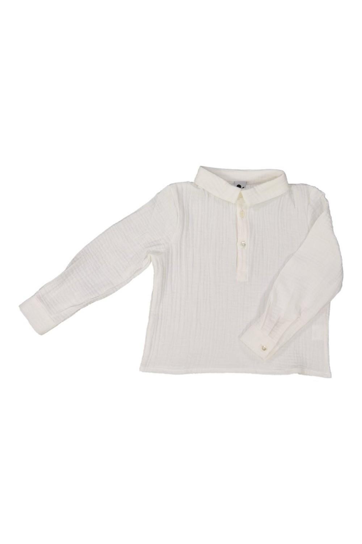 chemise garçon risu risu blanc spoutnik