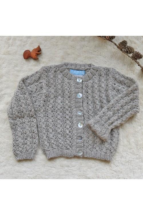 Cardigan pure laine gris...