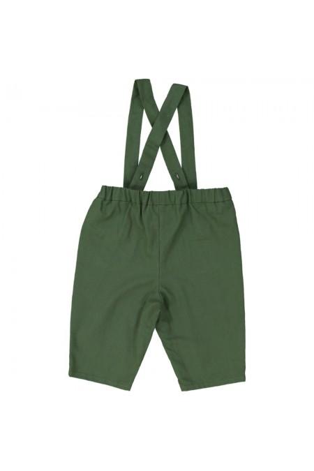 pantalon bébé toile verte bio surfeur