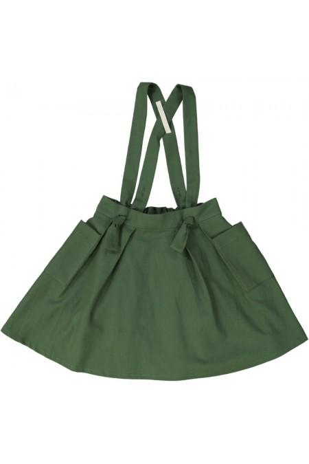 jupe fille coton bio vert farandole