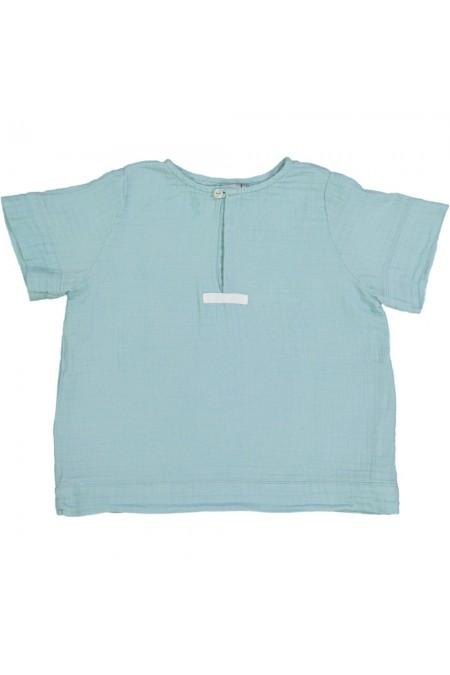 chemise pirate bleue coton bio