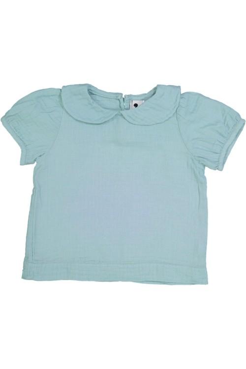 blouse xénia coton bio bleu risu risu