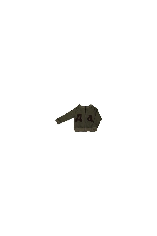 sweatshirt garçon coton bio kaki