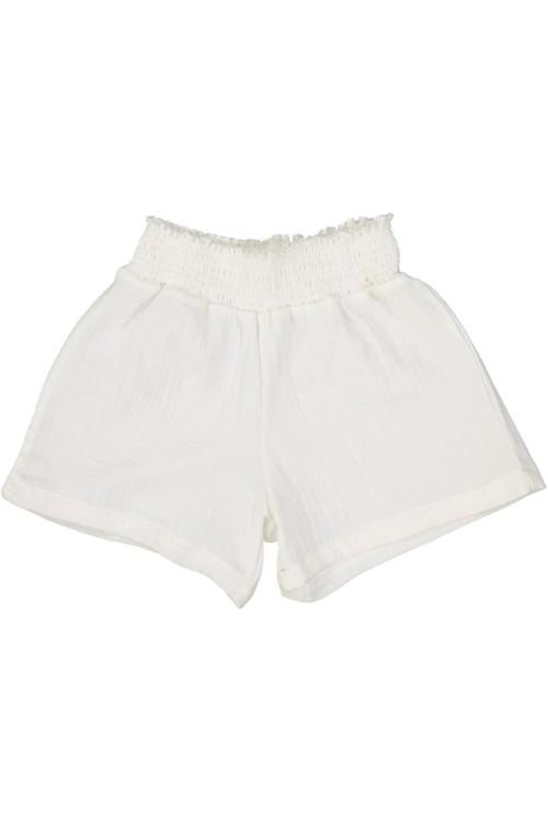white brava girl's shorts organic cotton