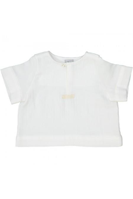 chemise garçon pirate coton bio blanc