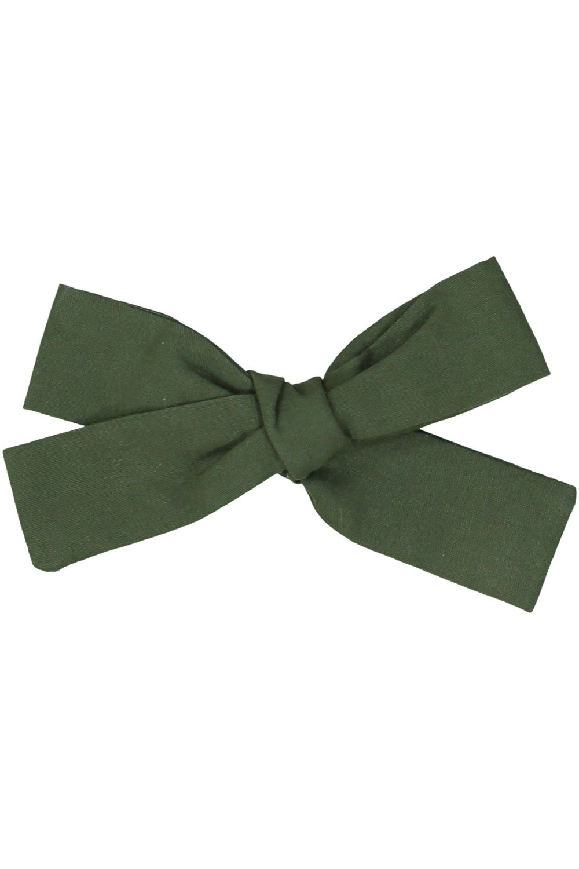 barrette fille noeud coton bio vert