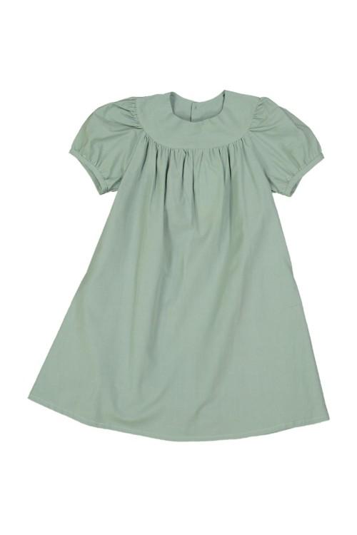 robe fille coton bio gitane vert amande