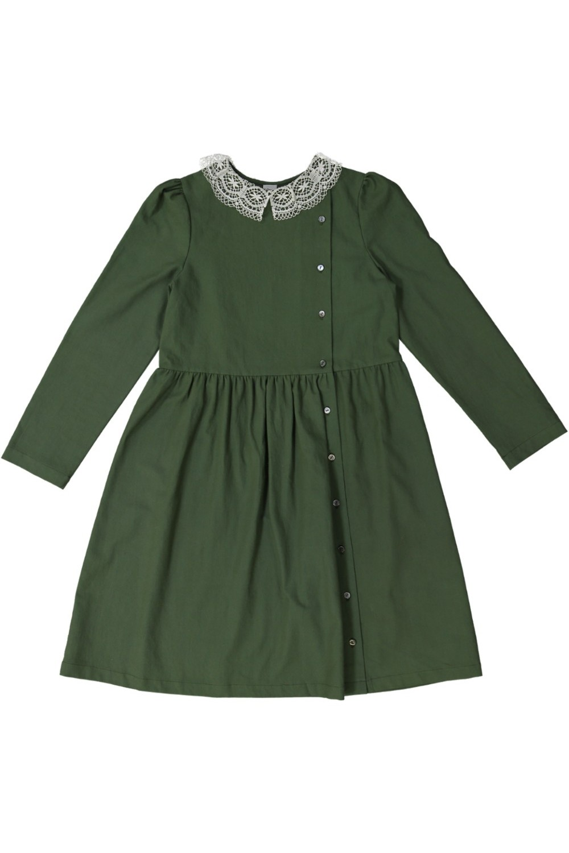 robe fille Perce Neige vert risu risu coton bio